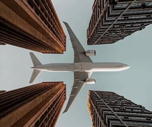 airplane, pilot, and wing image