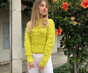 cardigan, neon, and outfit image