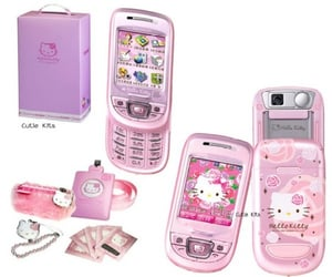 cellphone, hello kitty, and phone image