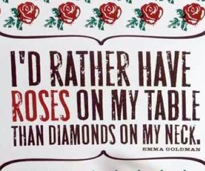 rose, diamond, and quote image