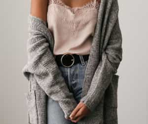 A fall outfit featuring a cozy cardigan and satin cami that's perfect for layering.