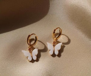accessories, beauty, and butterfly image