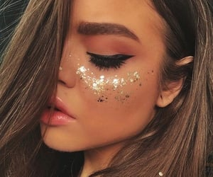 face, glam, and glitter image