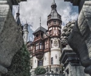 architecture, castle, and sinaia image