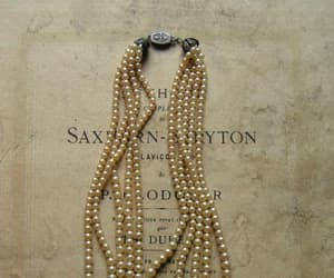 pearls, vintage, and necklace image