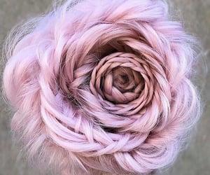 hair, pink, and rose image