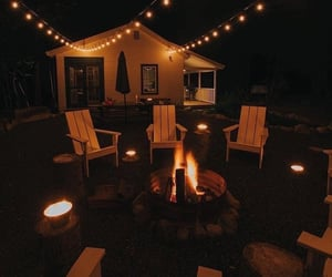 bonfire, forest, and pretty image