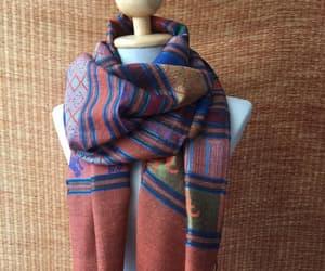 bohemian, boho style, and boho scarf image