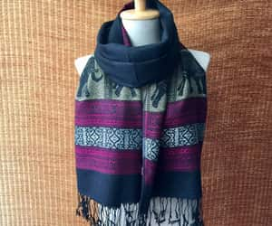 bohemian, boho style, and winter scarf image