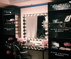 beauty, mirror, and black image