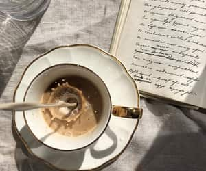 coffee, book, and cream image