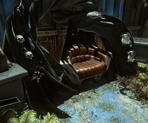 black, castle, and chair image