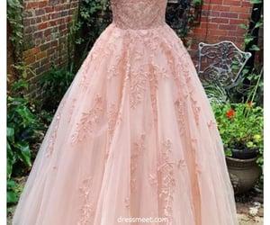 evening dress, blush pink dress, and prom dresses image