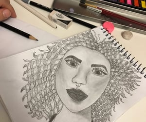 b&w, draw, and drawing image