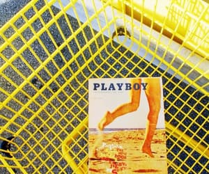 Playboy, vintage, and yellow image