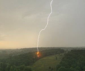 lightning, nature, and thunder image
