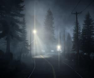 Darkness, gloom, and streetlight image