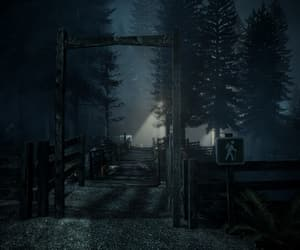 Darkness, hike, and horror image