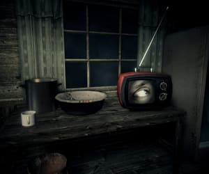 cabin, Darkness, and creepy image