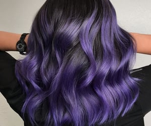 black hair, colored hair, and hair image