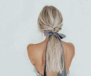 braid, ribbon, and blue image