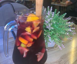 drink, drinking, and fruit image