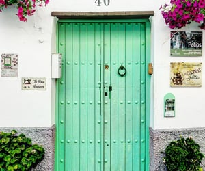 doors, green, and Houses image