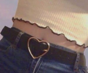belt, fashion, and heart image