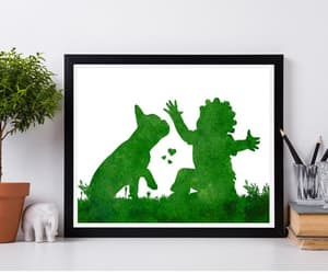 african art, nursery room decor, and baby with dog image