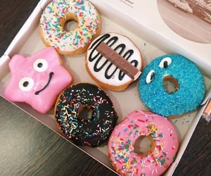 delicious, yummy, and donuts image
