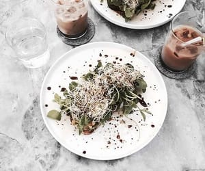 coffee, healthy eating, and marble image