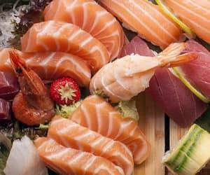 sushi, sake, and tuna image