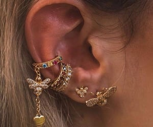 earrings, gucci, and jewelry image