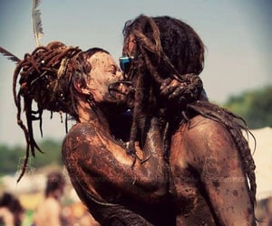 love, couple, and dreadlocks image