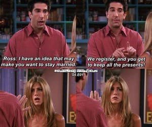 just married, ross geller, and friends image