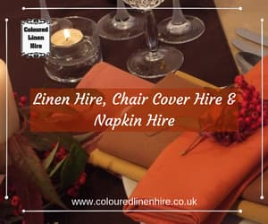chair cover hire, linen hire, and napkin hire image