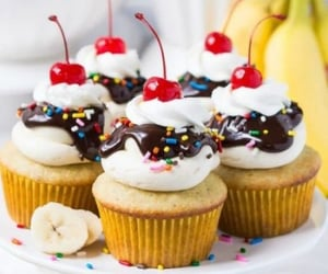 banana, chocolate, and cupcake image