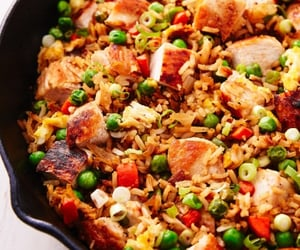 Chicken, food, and capsicum image