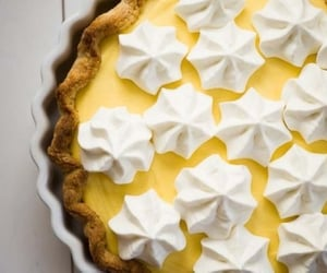 food, lemon, and meringue image