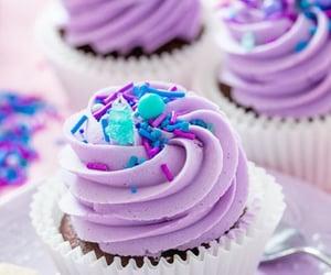 chocolate, cupcake, and sprinkle image