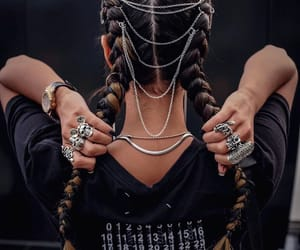 hairstyle, jewelry, and necklace image