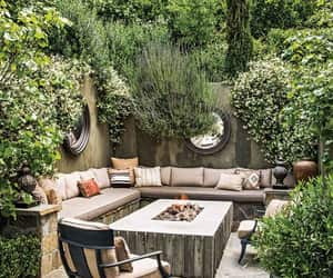backyard, chilling, and furniture image