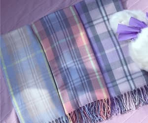 checkered, japanese, and scarf image