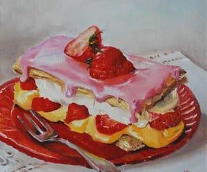 art, cream, and pie image