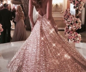 dress, roses, and wedding image