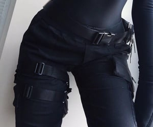 black, aesthetic, and outfit image