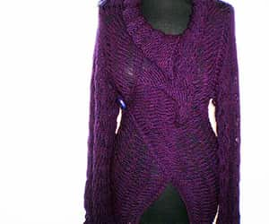 cardigan, knitting, and knitwear image