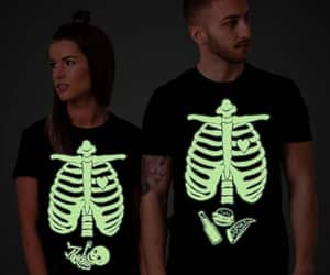 etsy, halloween shirt, and glow in the dark image