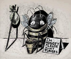 earth, save the bees, and flowers image