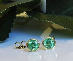 etsy, green earrings, and green studs image